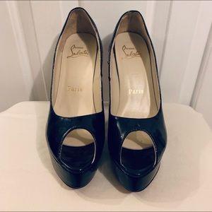 Louboutin platform peep toe heels/pumps size 41